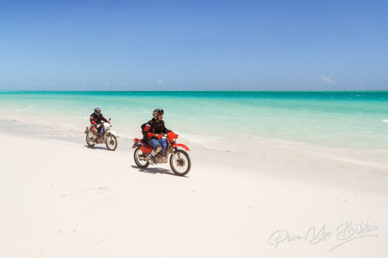 Bikers on the beach