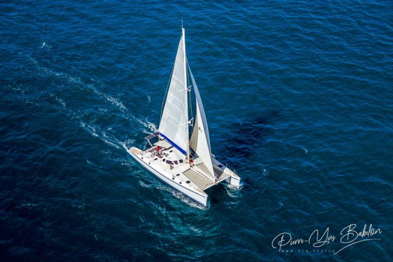 Catamaran navigating